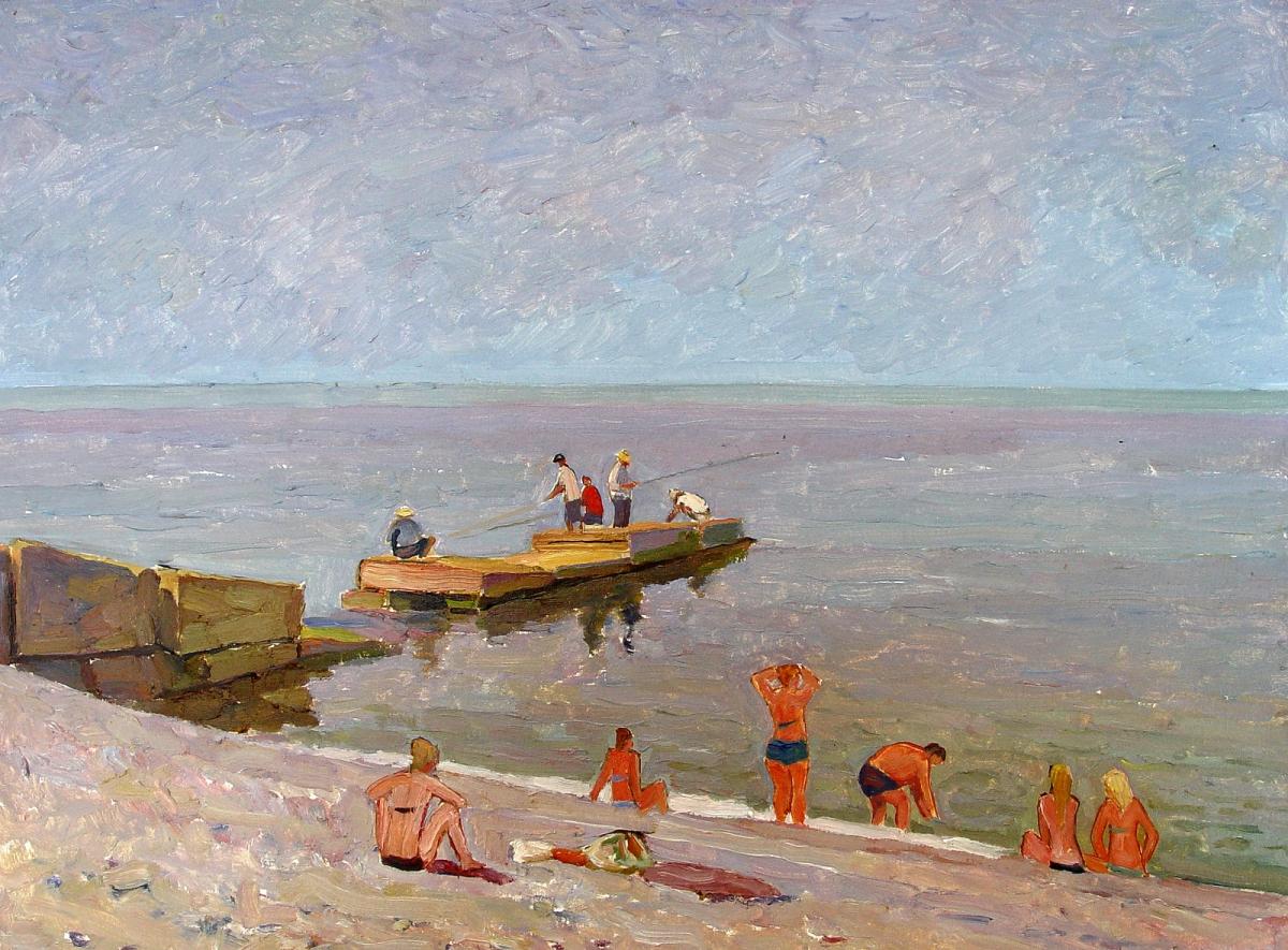 Утренний пляж. Из серии  Адлер.