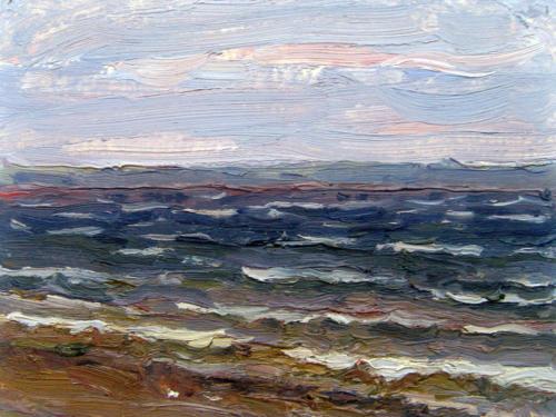 Ветер и волны. Из серии Волга.