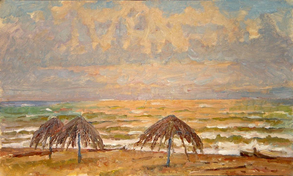 Осенний пляж. Из серии Абхазия.