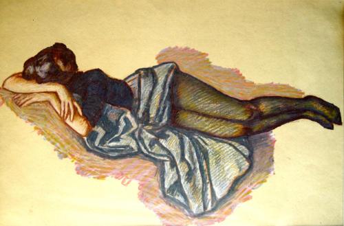 Отдыхающая натурщица (Олеся).