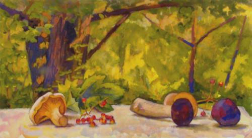 Натюрморт с грибами.