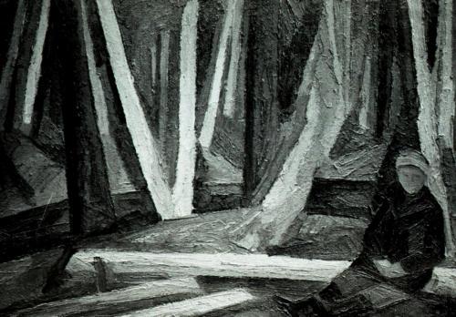 Костёр в весеннем лесу.